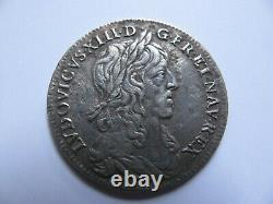 1/4 Ecu Louis XIII 1642a Very Rare Price 280 1st Punch