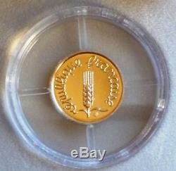 1 Centim Or Bu 2001 Very Rare