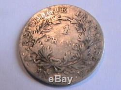 1 Franc An 13 U Utrecht Napoleon 1 Very Rare Cotessss Cgb 600+ Silver