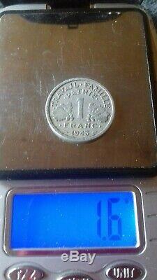 1 Franc Bazor 1943 Heavy Rare Col / Sun