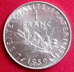 1 Franc Sower 1959 Test Nickel Very Rare