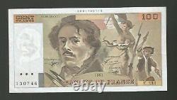 100 F Delacroix 1993 Mistake Tres Rare