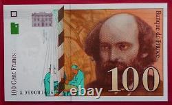 100 Francs Cézanne 1997 New Letter A Very Rare