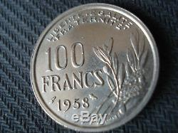 100 Francs Cochet 1958 Owl, Spl +, Very Rare