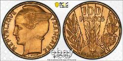 100 Francs Or Bazor 1935 Paris Flan Bruni Proof Pcgs Pr64 Very Rare