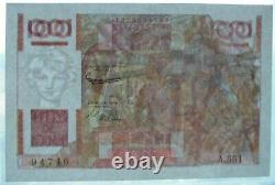 100 Young Peasant Francs A. 6.8.1953 A. 551 Very Rare Inverted Watermark - Normal