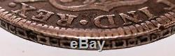 11 Bit Dominica Piece 8 Reales 1795 With Counter Mark Very Rare Silver