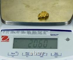 #1221 Great Natural Gold Australian Seed 20.60 Grams Very Rare
