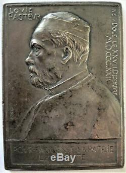 1892 Roty. Silver Medal. Pasteur Its 70th Anniversary. Very Rare Medal