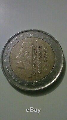 2 Euro Coin Netherlands Beatrix Rare Fault