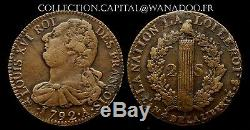 2 Sols Constitution Francois Louis XVI 1792a An4 Sup Cote 600 Very Rare Quality