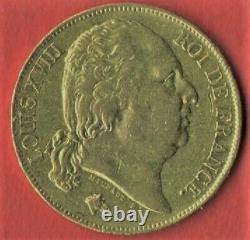 20 Fr Gold 1817 K Bordeaux Tres Rare 4803 Exemplai State See Photo And Description