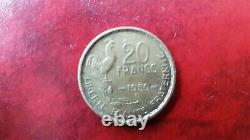 20 Francs 1950 B 4 Sickles Georges Guiraud Rare Very Good Condition