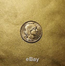 20 Francs Or 1901 Marianne / Coq Monnaie France (very Rare) Gorgeous