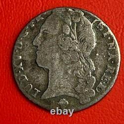 #4356 Louis XV 1/10 Ecu 1742 Pau Very Rare 21 MM Facture
