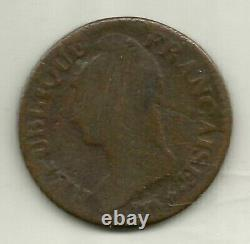 5 Centimes Dupre Year 8 / 5 Bb / T Gerbe / Anchor Tres Rare