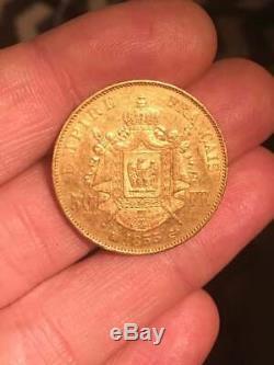 50 Francs Gold Gold Napoleon III 1855 Bb Strasbourg 6850 Ex Pedigree Rr Very Rare