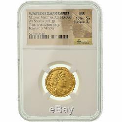 # 900390 Mint, Magnus Maximus, Solidus, 383-388 Ad, Trier, Very Rare