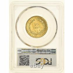 #905414 Currency, French Indo-china, 20 Cents, 1928, Paris, Very Rare, Pcgs