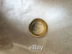 A 1 Euro Coin Very Rare With A Manufacturing Defect Which Dates From 2001