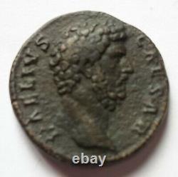 Aelius Three Rare (r2) And Beautiful Dupondius Roman Currency Roman Coin