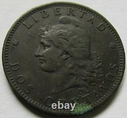 Argentina Very Rare 2 Centavos 1887