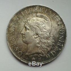 Argentine Peso A Very Nice Piece Silver 1882 (libertad / Bonnet) Tbe Rare