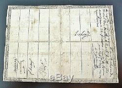 Assignat A Back 200 Pounds In 1790 Very Rare