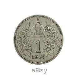 Austria 554, Corona, 1907, Silver, Ttb, Rare, Km 2804