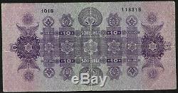 Austria, Very Rare 10 Note Schillinge 1925