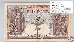 Bank Of Algeria 1000 Francs 7.3.1938 Alphabet Z. 136 Very Rare