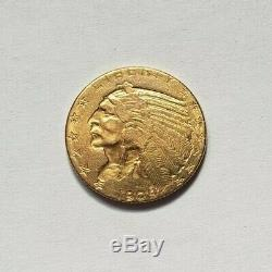 Beautiful And Rare Piece Of $ 5 Indian Gold 1909 Philadelphia