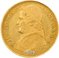 Bologna Pius IX 5 Scudi Rare 1846 Splendid Spl