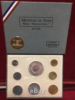 Box Fdc Fleur De Coin France 1968 Very Rare
