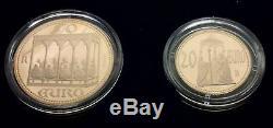 Box San Marino 50 And 20 Euros In Gold 2003 Very Rare
