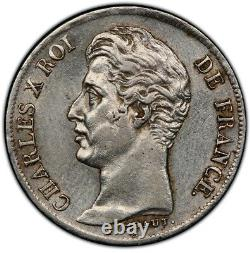 Charles X 1 Franc 1825 La Rochelle Superb Very Rare