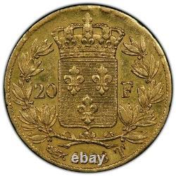 Charles X 20 Francs Gold 1828 Nantes Revers À Cinq Feuilles Superbe Très Rare
