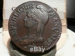 Cira (104) (22) 5 Centimes Dupre The Year 8 Aa Very Rare Relief! Quality ++