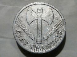 Cira (106)(2) 1 Franc State Francais 1944 C (small C) Tres Rare