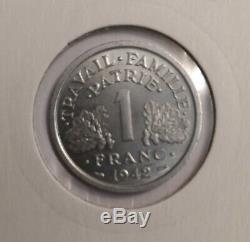 Coin 1 Franc Bazor 1942 Test Rare