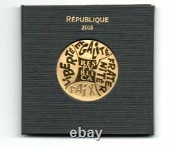 Coin Or 500 (euro) (2015) Paris Mint Asterix - Obelix (9 G) Very Rare