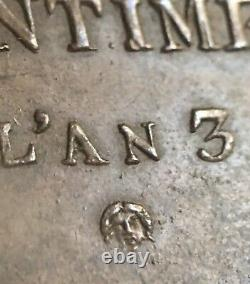 Convention Essay Of 25 Centimes An 3 (1795) Very Rare In State