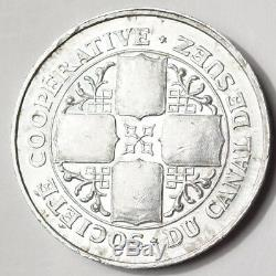 Cooperative Company Of Suez Canal Very Rare 2 Francs 1892