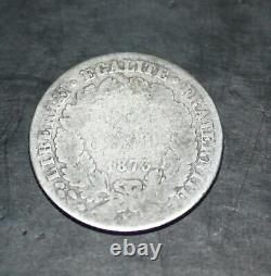 Currency Silver France 50 Cents 1873 K Ceres Very Rare State B