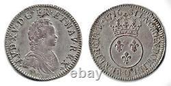 Ecu Louis XV In 1716 Vertugadin Superb Very Rare Reformation Riom