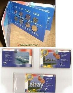 Euro Pays-bas Mini Bu 2002 Very Rare 8-cent To 2 Euro