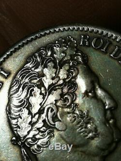 Exceptional! Louis Philippe 1 2 Francs 1839 B Rouen Rare