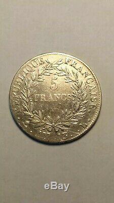 Five 5 Francs Napoleon Bonaparte An 13 L (bayonne) Tb + Rare