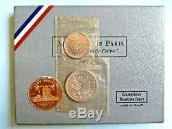 Franc 1 And 5 Francs 1968 Fdc # Semeuse Very Rare Sealed #
