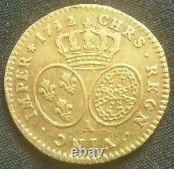 France 1/2 Half Gold Louis Of Louis XV 1732 A Paris Very Rare /gold